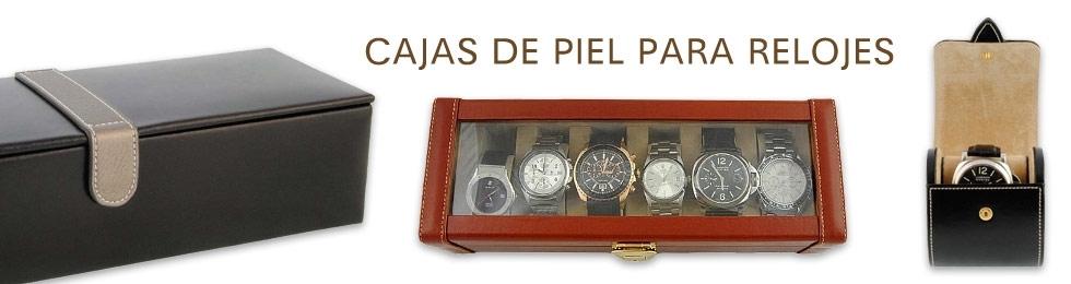 Cajas relojes piel